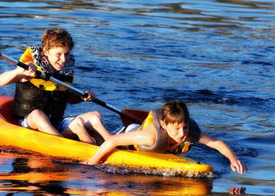 Greece boys in water